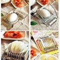 Elegante Em Aço Inoxidável 2016 Boiled Egg Slicer Cortador de Cozinha Legumes Fruta Chopper