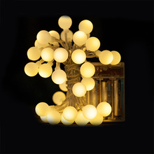 3M 4M 5M Global ball Battery string lights 3pcs AA Battery operated holiday decoration light for Party wedding Christams tree