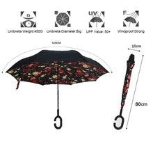 Windproof Folding Reverse Umbrella