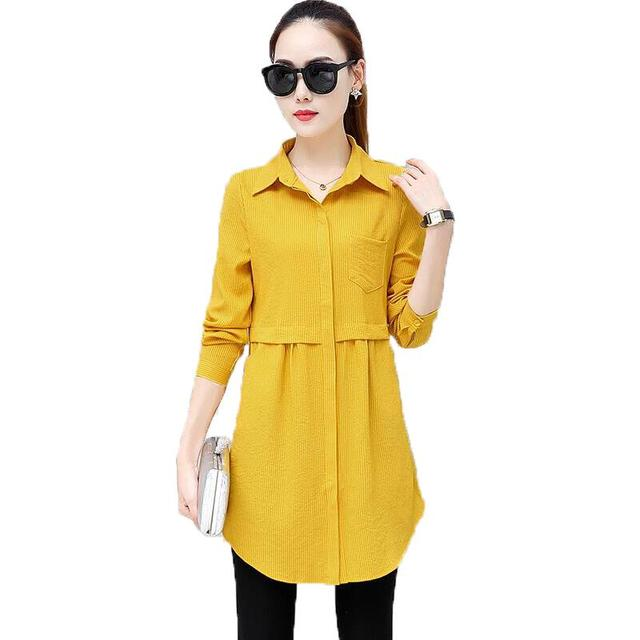 2018 New Autumn Work Shirt Women Plus Size Blouse Long Sleeve Blouses Shirts Blusas Femininas Business Wear Casual Women Tops