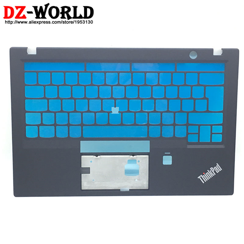 New Original for ThinkPad X1 Carbon 5th Keyboard Bezel Palmrest Cover UK Version w/o Touchpad with Fingerprint Hole SM10L66674 gzeele new for lenovo thinkpad s1 yoga keyboard bezel palmrest cover with touchpad and connecting cable 00hm067 00hm068 black c
