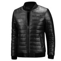 2019 New Warm Autumn Winter Leather Jacket Men Plus Size M~7XL 8XL Casual Mens Motorcycle PU Leather Jackets and Coats