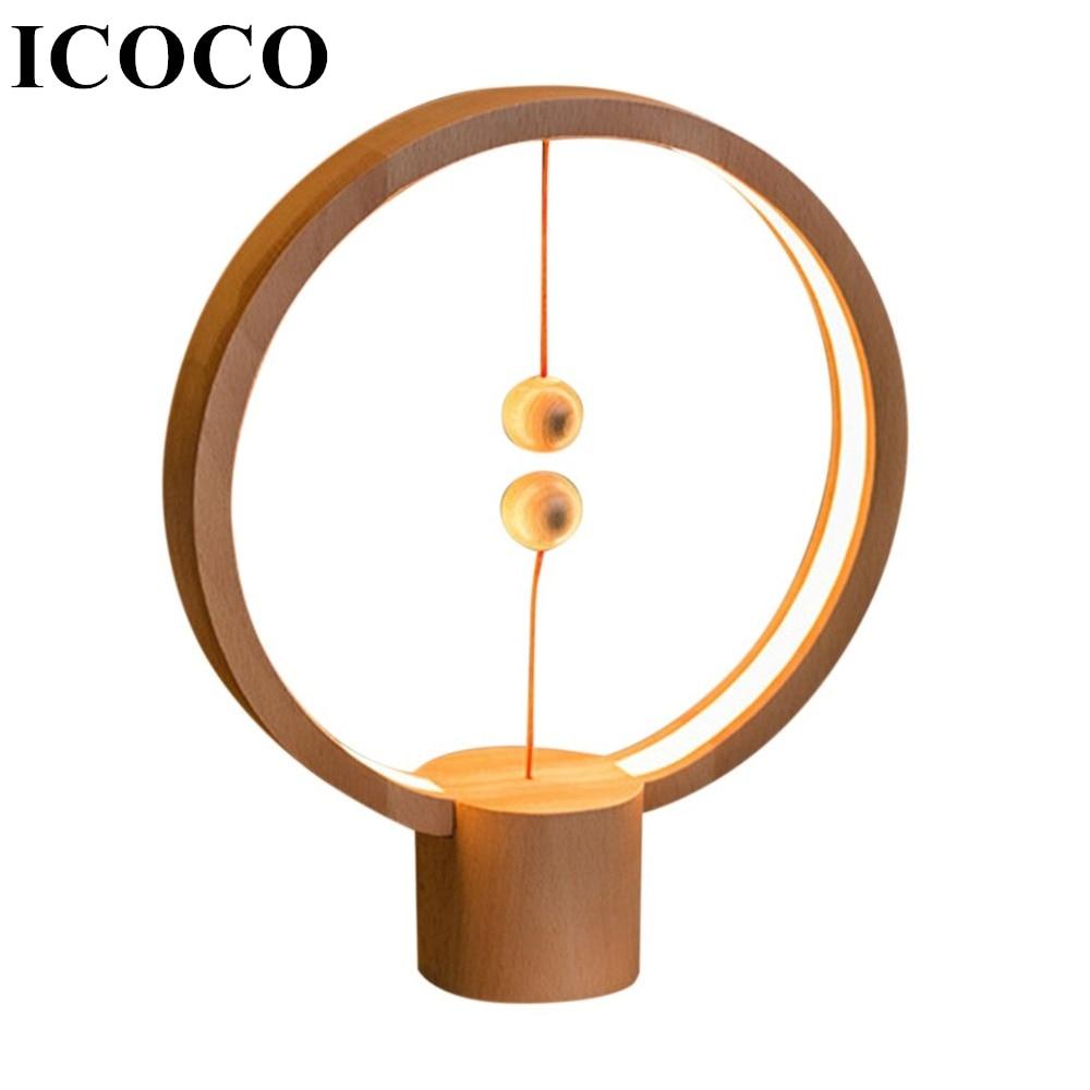 Livraison directe Heng Balance veilleuse lampe à LED intelligente USB Charge intérieure décoration de la maison chambre lumières créatif noël enfants cadeau