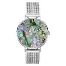 Relogio Feminino Women's Watches 2018 New Coral Shell Stainless Steel Mesh Band Fashion Women Dress Quartz Wrist Watch Gift