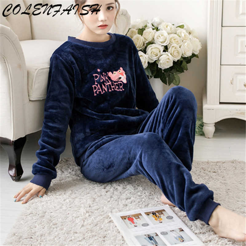 5df61926b4fe Detail Feedback Questions about Winter Thick Women Pajama Sets ...
