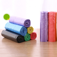 5rolls=1pack disposable garbage bags thickening household cleaning point broken type kitchen black plastic bag