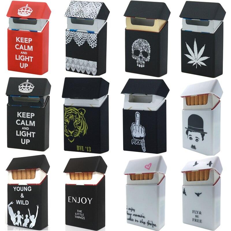 Holds 20 Cigarettes,Personality Silicone Cigarette Case Fashion Cover Elastic Rubber Portable Man/Women Cigarette Box Sleeve