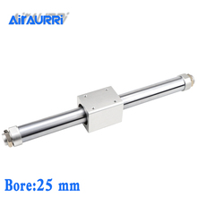 CY1B25 SMC type Magnetically Coupled Rodless Cylinder/ Basic bore 0mm stroke 500mm aluminum alloy pneumatic air cylinder cy1b40 485 smc type rodless cylinder 40mm bore 500mm stroke high pressure cylinder cy1b cy3b series