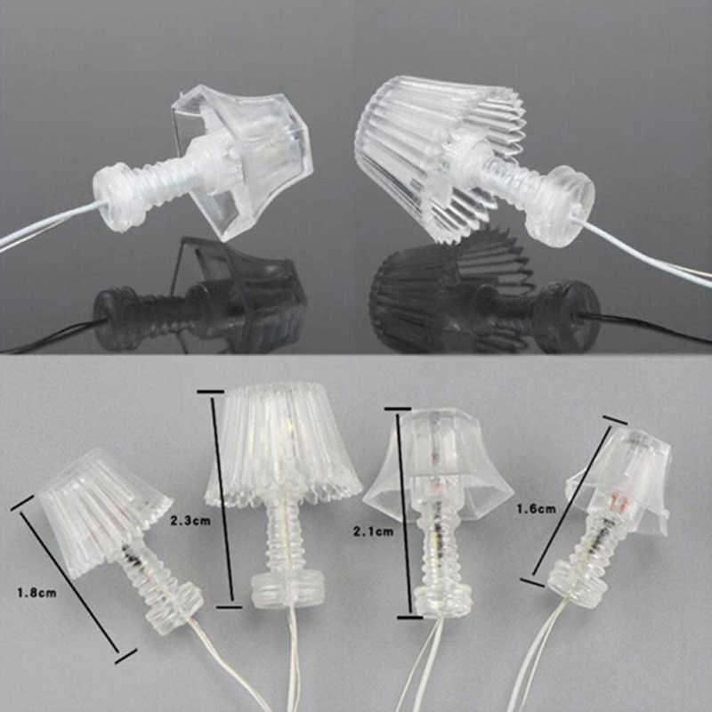 미니 라이트 테이블 램프 * 1 미니 1:25 조명 테이블 램프 인형 집 미니어처 액세서리 어린이 인형 집 침실 플로어 램프