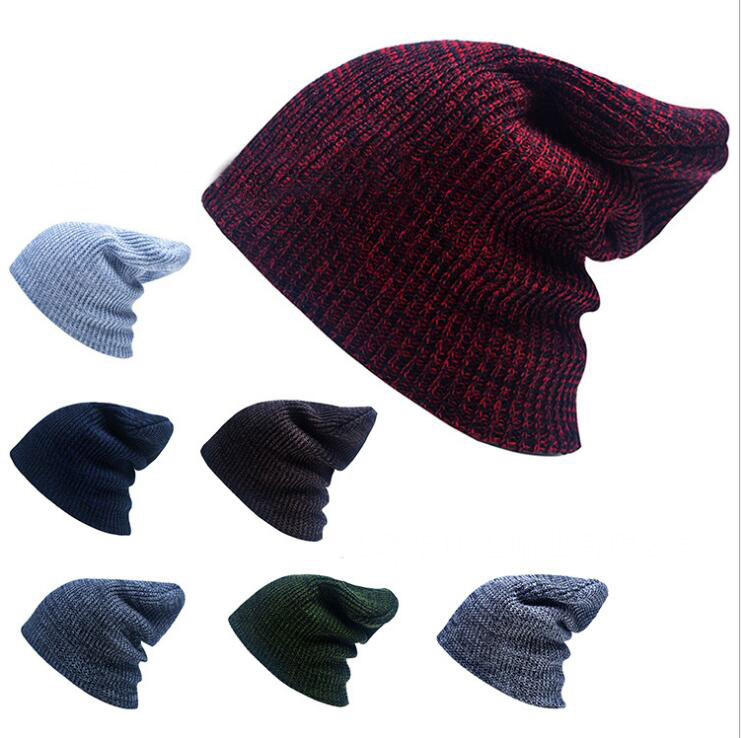 2016 Bonnet Beanies Knitted Winter Hat Caps Skullies Winter Hats For Women Men Beanie Warm Baggy Cap Wool Gorros Touca Hat 2017 new women ladies cable knitted winter hats bonnet femme cotton slouch baggy cap crochet beanie gorros hat for women