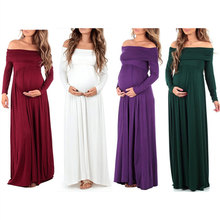 Long Sleeves Ankle-length Casual Maternity Dress