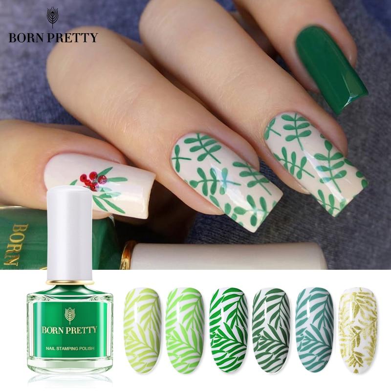 BORN PRETTY Melody Life Series Nail Stamping Polish Image Printing Varnish Varnish  Art Stamp Vernis