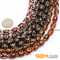 8x12mm Olivary Dzi Beads Tibet Agate Strand 15 Natural Agate Stone Beads Loose Beads For Jewelry