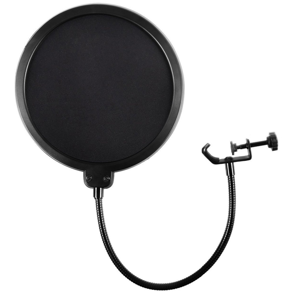 kexu microphone wind screen pop filter mask shield flexible professional condenser microphone. Black Bedroom Furniture Sets. Home Design Ideas