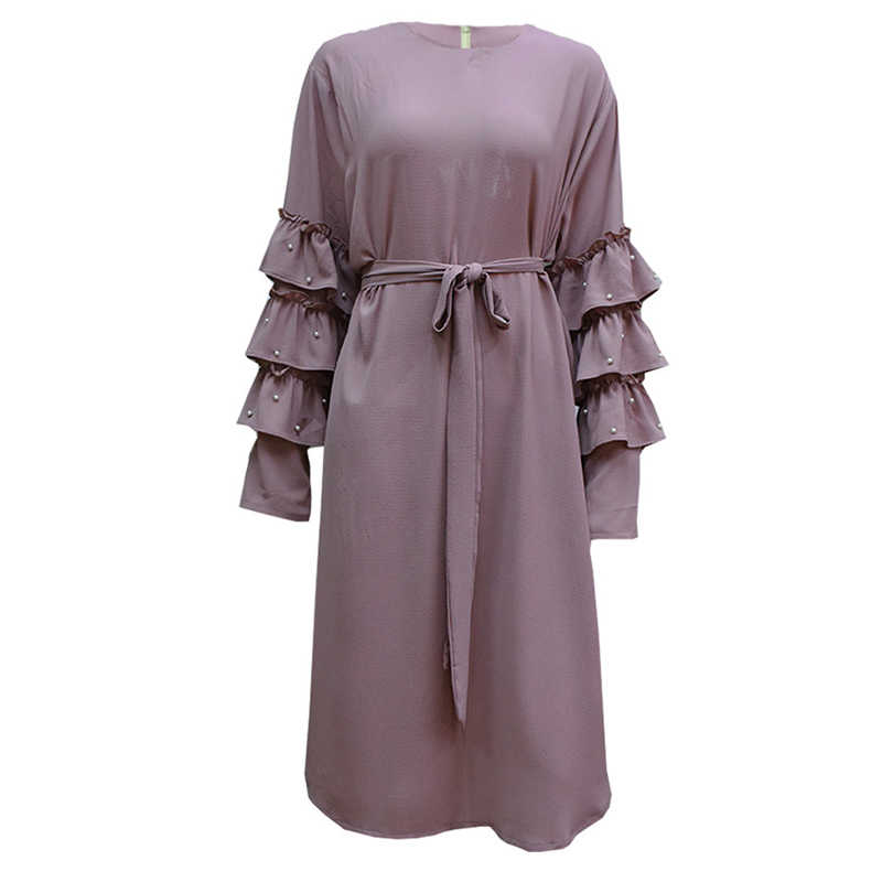 Plus Size 5XL 2019 Arabic Turkey Islam Women Muslim Long Sleeve Top Dress Abaya Musulman Saudi Arabe Islamic Long Tops Clothing