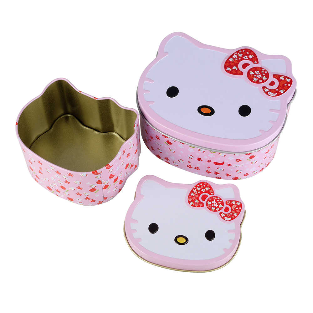 f46d03d96 Cartoon Hello Kitty Mini Gift Package Tin Box Candy Baking Cookies Biscuit  Case Decorations for Home