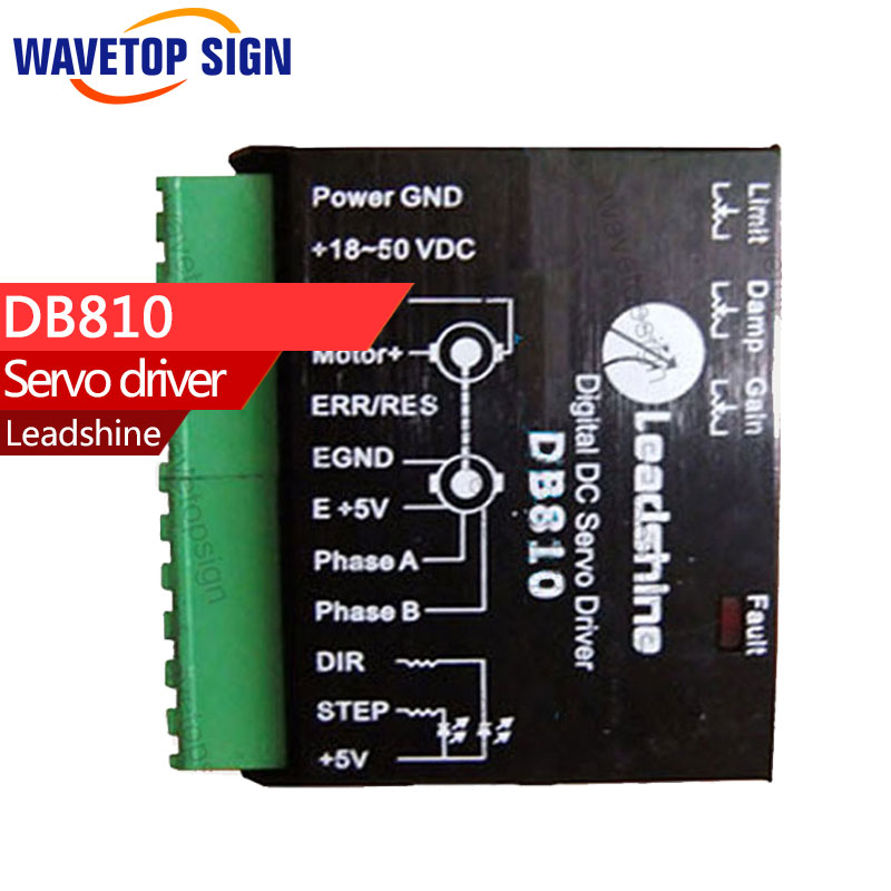 LEADSHINE  - Brushed DC Servo Drive DB810 this modle stop making use DC Servo Drive DB810 instead new version MCDC505 leadshine dcs810 brushed servo drive with max 80 vdc input voltage and 20a peak current