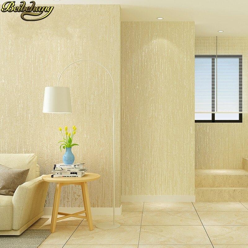 plain bedroom cream wall living beige walls minimalist decor modern wallpapers paper beibehang