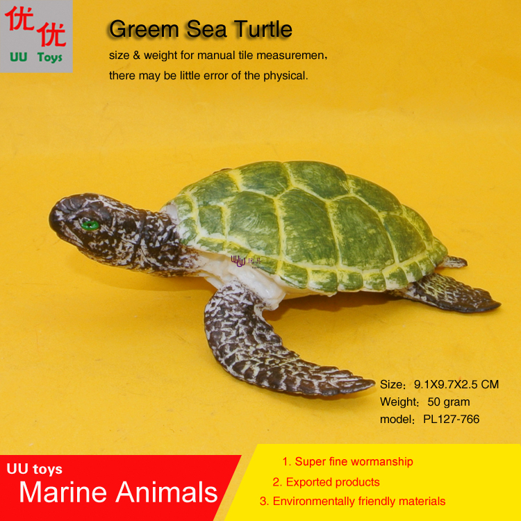 Green Baby Sea Turtle Simulation model Marine Animals Sea Animal kids gift educational props Action Figures easyway sea life gray shark great white shark simulation animal model action figures toys educational collection gift for kids