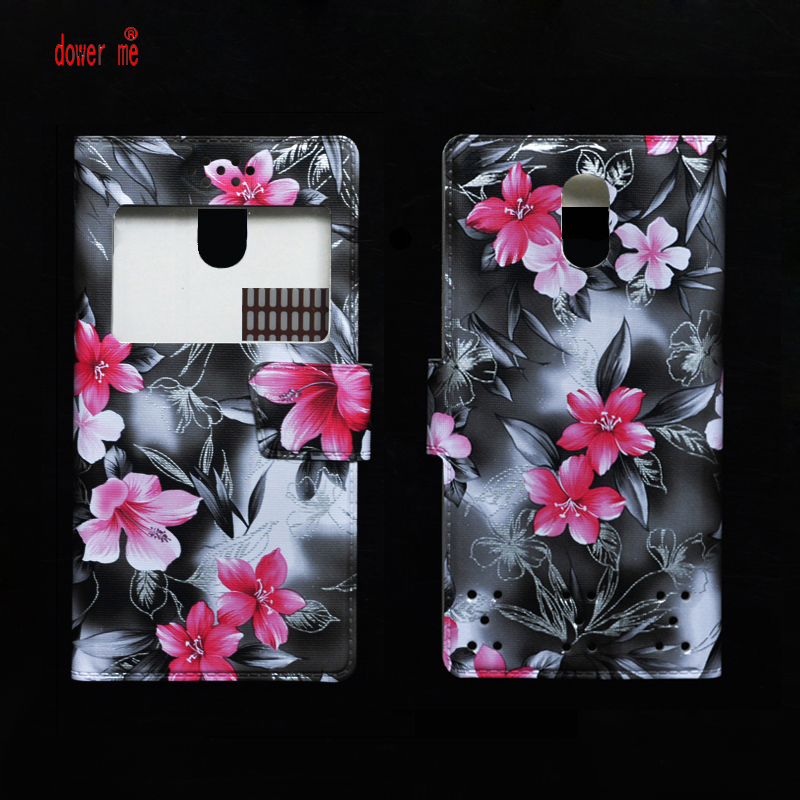 dower me Fashion Colorful PU Leather Flip Case Cover For Digma LINX Trix 4G 5.5 Smartphone