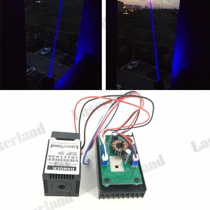 450nm 445mW 1.5W Blue Laser Diode Module w /TTL 25khz for Fabric engraving fat beam 60mw 532nm laser diode module w ttl