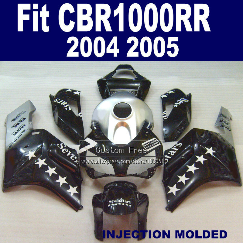 100% Injection fairing kits for 2004 2005 Honda  parts CBR1000RR CBR 1000 RR 04 05 CBR1000 RR sevenstars ABS fairings