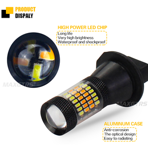 Image 3 - 2X T20 7440 W21W LED Dual Color White/Amber Yellow Switchback Turn Signal Light + Canbus Error Free Decoder Load Resistor W21W