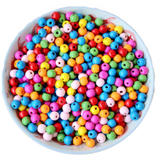 Jewelry-Making-Accessories Bracelets Spacer-Beads Wood-Bead Diy-Supplies Round 13-300pcs