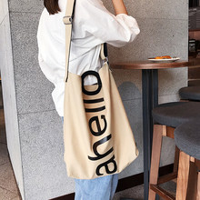 Large Capacity Canvas Tote Bag Cloth Reusable Shopping Bag Women Beach Handbags Printed Shopping Bags(China)