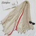 Punto de la onda dulce Geométrica bufandas de las señoras de las mujeres de Protección Solar bandanas 2017 nuevo multímetro impresa toalla de playa femenina bufanda D133