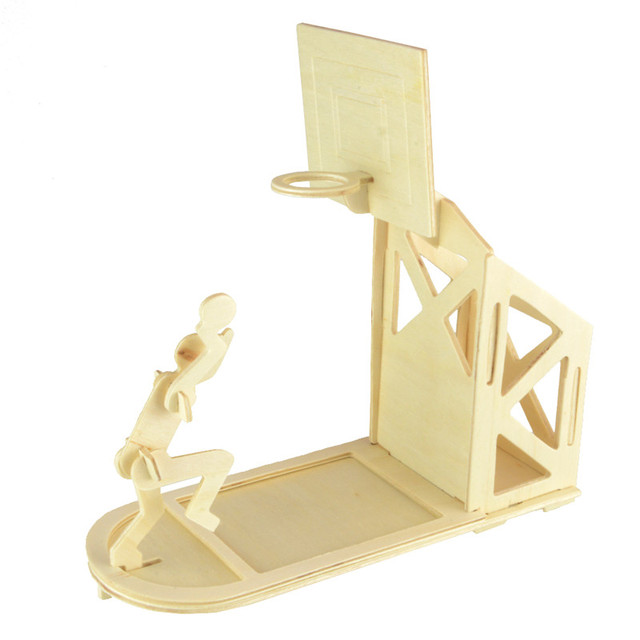 0855a145a Starz 3D Wooden Basketball Pen-Container Puzzles Toys Static Model Wood  Craft Building Kits Children Gifts for Kids
