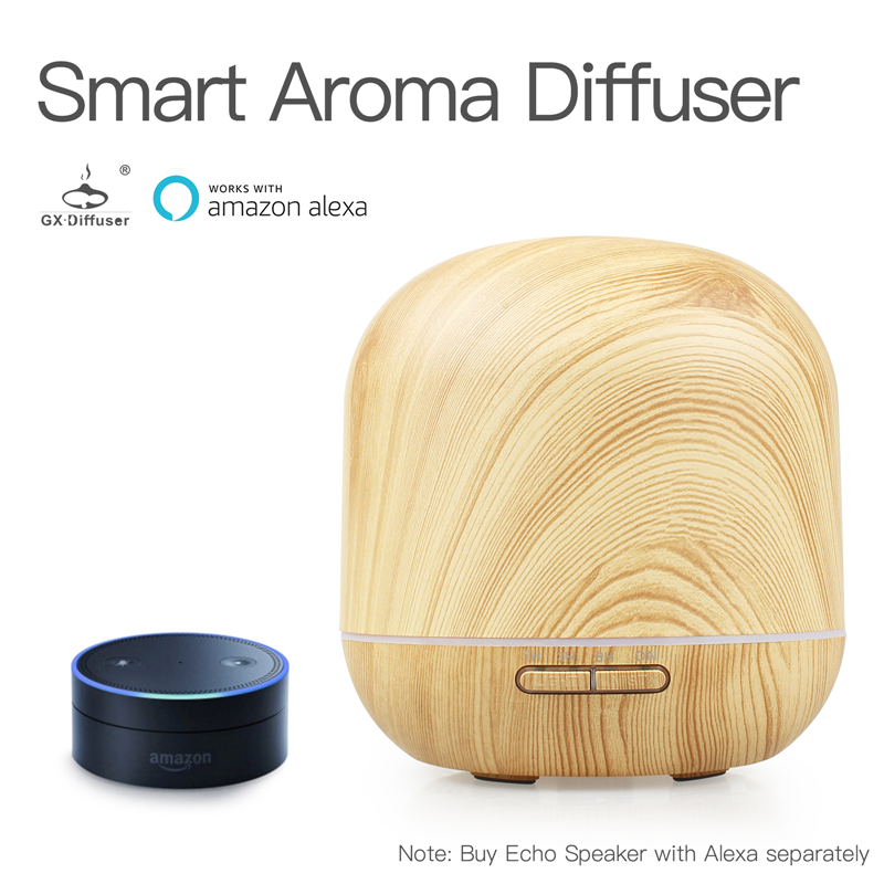 GX.Diffuser Smart Wifi Aroma Diffuser Electric Humidifier Essential Oil Aroma Diffuser Aromatherapy Work with Amazon Alexa все цены