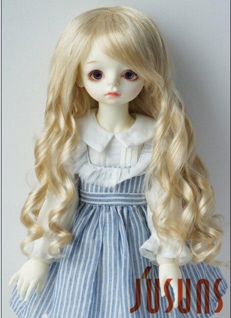 JD224 9-10 дюймов Blyth кукла парики 23-25 см кукольный парик BJD парик леди Sauvage длинные волнистые кукольные волосы - Цвет: Beige blond