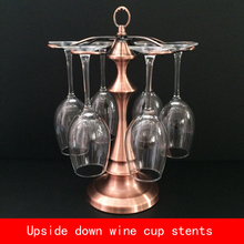luxury european style pagoda creative design wine cup stents not fade bronze color metal bracket недорого