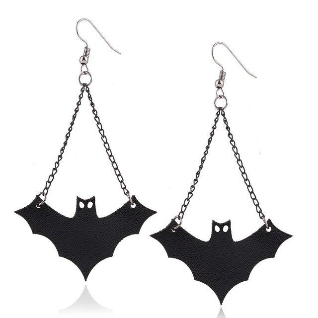 New Design Personalized Cute Bats Stud Earrings Women Jewelry Accessories Creative Strange Bat