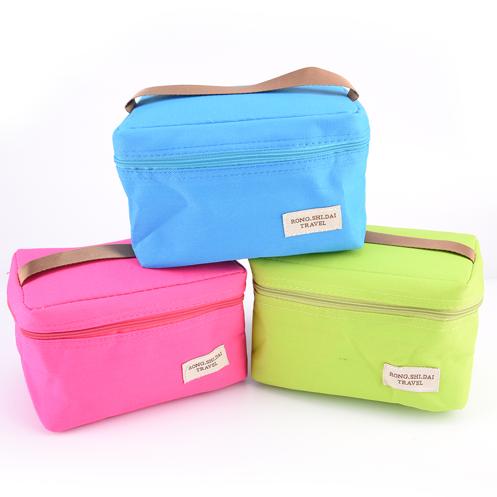 1PCS Portable Lunch Box Bag Insulated Thermal Cooler Bento Lunch Box Tote Picnic Lunch Bag