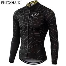 Phtxolue Winter Thermal Fleece Cycling Jersey Warm 2016 Pro Mtb Long Sleeve Men Bike Wear Clothing Maillot QY064