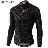Phtxolue inverno velo térmico camisa de ciclismo quente 2016 pro mtb maillot manga comprida homens bike wear clothing qy064