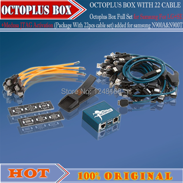 Octoplus Box Full Set for Sam For LG+for SE+Medusa JTAG Activation ( With 27pcs cable set) added for samN900A+Free Shipping