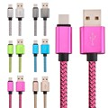 Free 100pcs/lot 25CM 1M 2M 3M Aluminium Alloy Braided Fabric 8pin usb data charging cable for iphone 5 6 6s 7 plus for ipad air