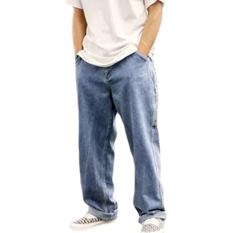 Pantalones Vaqueros Holgados Retro Para Hombre Nuevos Pantalones De Mezclilla Rectos De Moda Casual Pantalones De Talla Grande Hip Hop Rap Streetwear Pantalones Informales Aliexpress