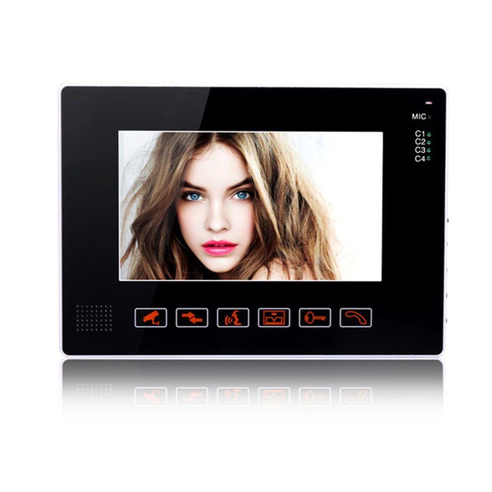 YobangSecurity 9 TFT LCD Color Wired Monitor For Video Audio Intercom Doorbell Video Door Phone Bell Access Control aputure digital 7inch lcd field video monitor v screen vs 1 finehd field monitor accepts hdmi av for dslr