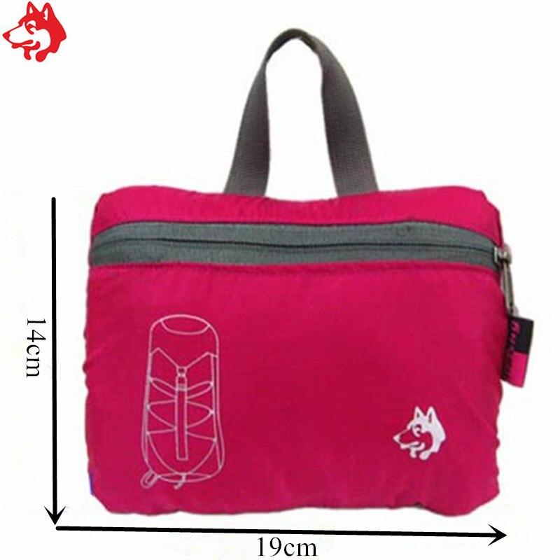 Купить с кэшбэком 32L purple/Red/Blue/Green outdoor trekking backpack Nylon waterproof unisex cheap hiking backpacks folding mountaineering bag