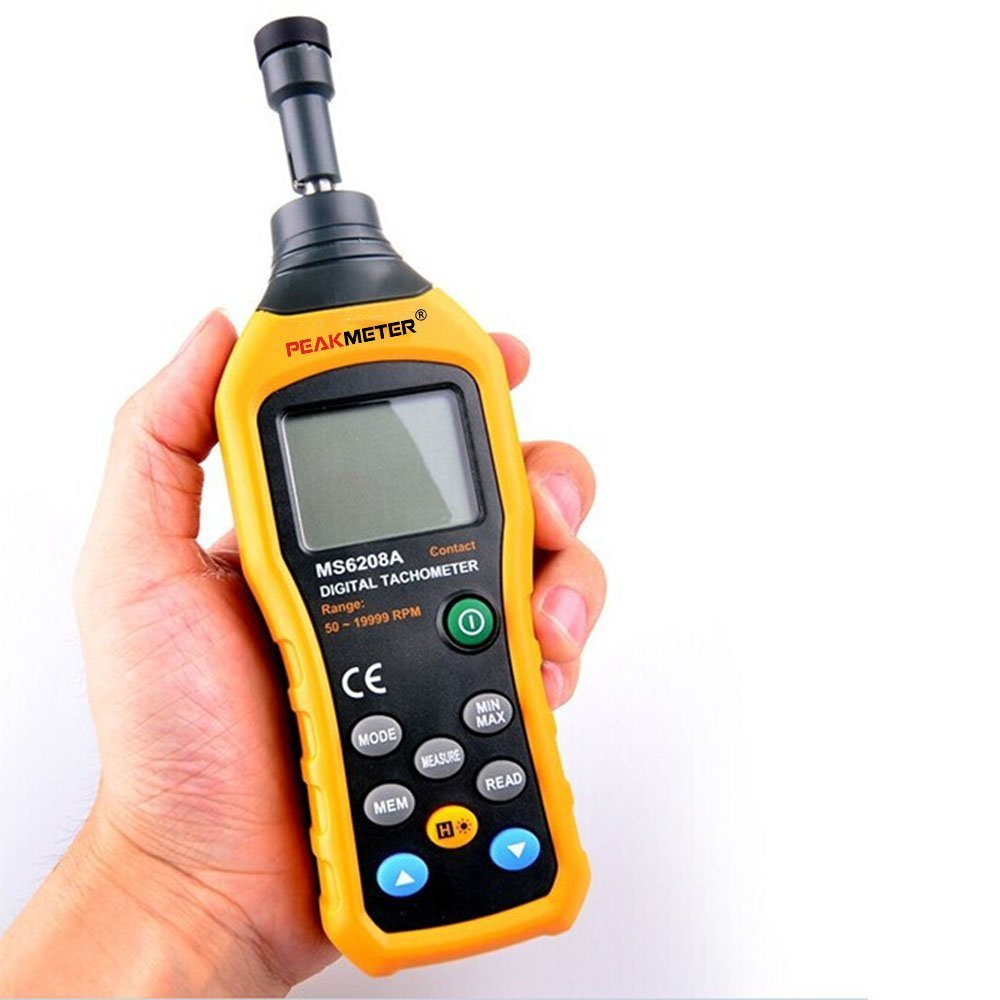 New MS6208A Contact Type LCD Digital Tachometer Pocket Wind Speed Test Meter Air Flow Anemometer for Industrial Agricultural