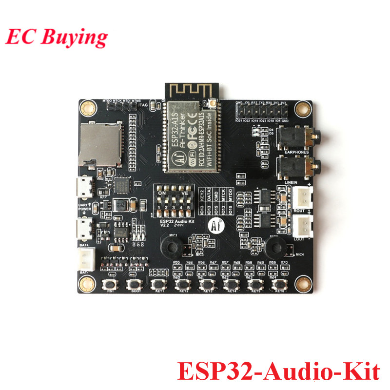 ESP32-Audio-Kit ESP32 Audio Development Board WiFi Bluetooth Module Low Power Dual-core with ESP32-A1S 8M PSRAM ESP32-Aduio-KitESP32-Audio-Kit ESP32 Audio Development Board WiFi Bluetooth Module Low Power Dual-core with ESP32-A1S 8M PSRAM ESP32-Aduio-Kit