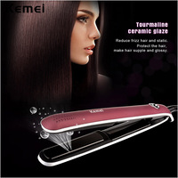 2016 Kemei New Professional Electric Hair Straightening Irons Flat Iron With Negative Ions And LCD Display