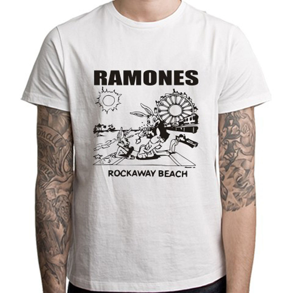7ca1b188 Detail Feedback Questions about THE RAMONES *Rockaway Beach Punk Rock Men's  White T Shirt S M L XL free shippingOfficial T Shirt New on Aliexpress.com  ...