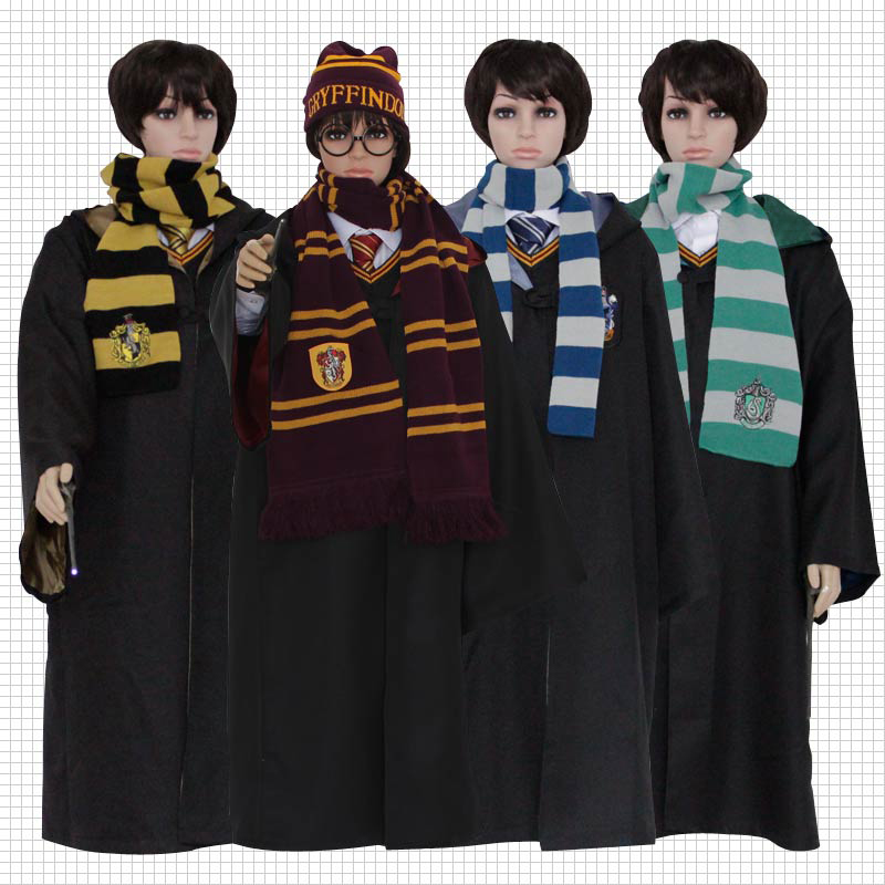 Harri Potter Robes Ravenclaw Gryffindor Hufflepuff Slytherin Harri Potter Cloak Cosplay Costumes Hogwarts School  Hermione Suit