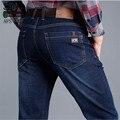 AFS JEEP Otoño Mediados de Edad de Los Hombres Ocasionales Mediados de Cintura de Algodón Jeans, 1% Spandex Diseño Longitud Moda Respirar Loose Tamaño Grande vaquero