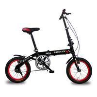 Folding Bike14 16 Inch Ultralight High Carbon Steel Frame Mini City Bike Children Adult Foldable Bicycle